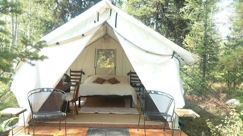 Glamping Tent 1 with Glacier NP View (2 available)