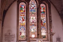 Stunning stain glass windows in Duiske Abbey, Graiguenamanagh.