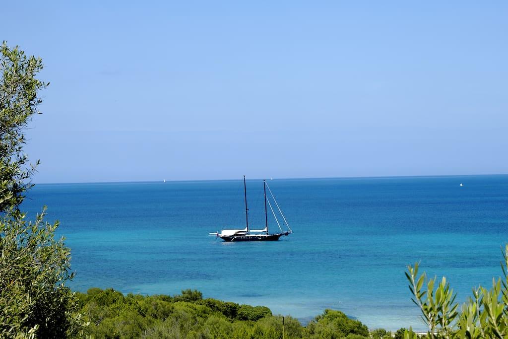 Golfo di Marinella bay.