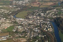 This is where I was born, historic Enniscorthy, where the lazy River Slaney flows through