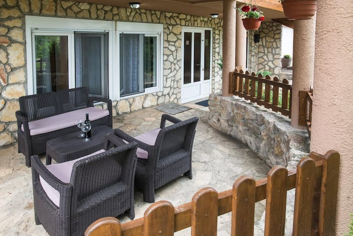 One bedroom apartment with terrace Oštarski Stanovi, Plitvice (A-17806-b)