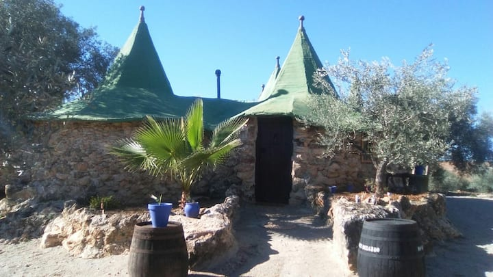 Casa hobbit en Villa ecológica Laguna Tíscar