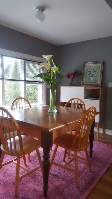 Dining room table seats 4