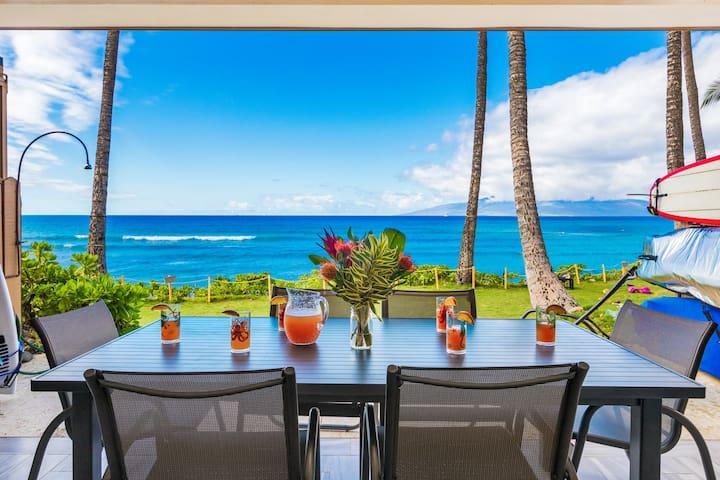 Beautiful Puamana Oceanfront Get-A-Way
