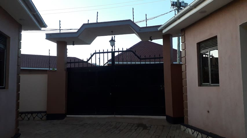 Front Gate with electric fence for extra security.