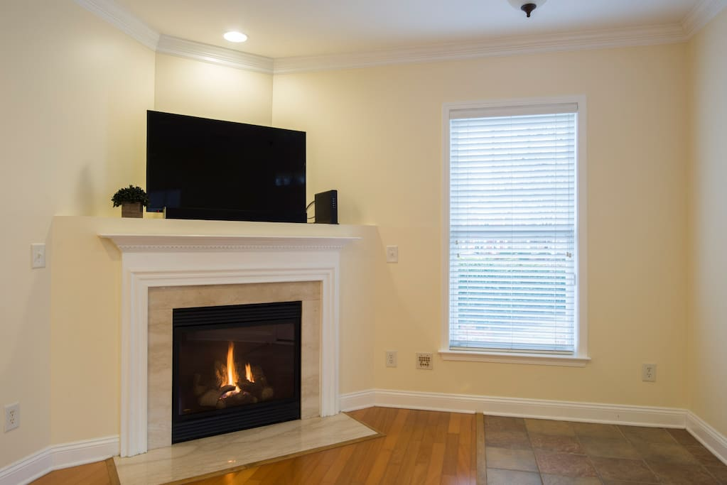 Living Room with Gas Fireplace for those cold evenings.