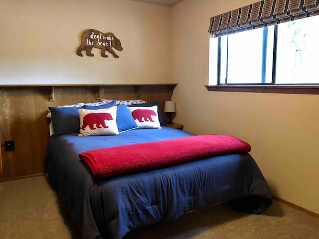 Guest bedroom, located across from guest bath. Queen bed, built in dresser and large closet.