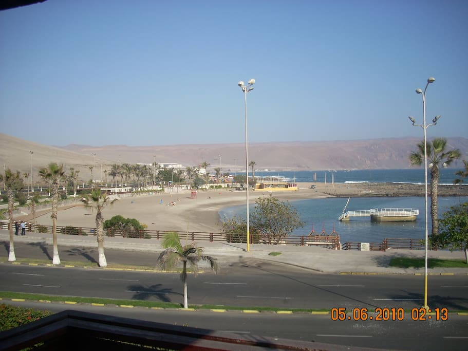 dpto interior y habitaciones frente a playa sector residencial