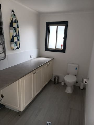 Laundry with 3rd toilet