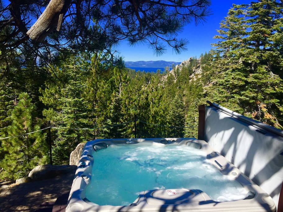 Set in a private setting among the boulders, the hot tub is hard to describe but everyone speaks of how much they enjoyed watching the sunsets while soaking.