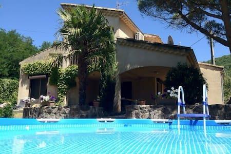 Villa Le Pont, 6p. Vakantievilla - Darbres - Villa
