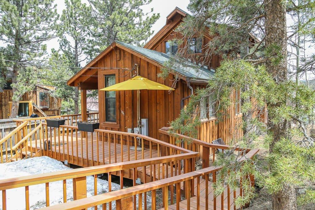 Blissful mountain retreat cabins for rent in nederland for Nederland cabin rental