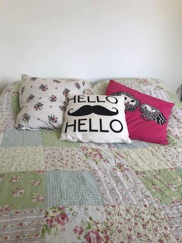 Comfy Green Room