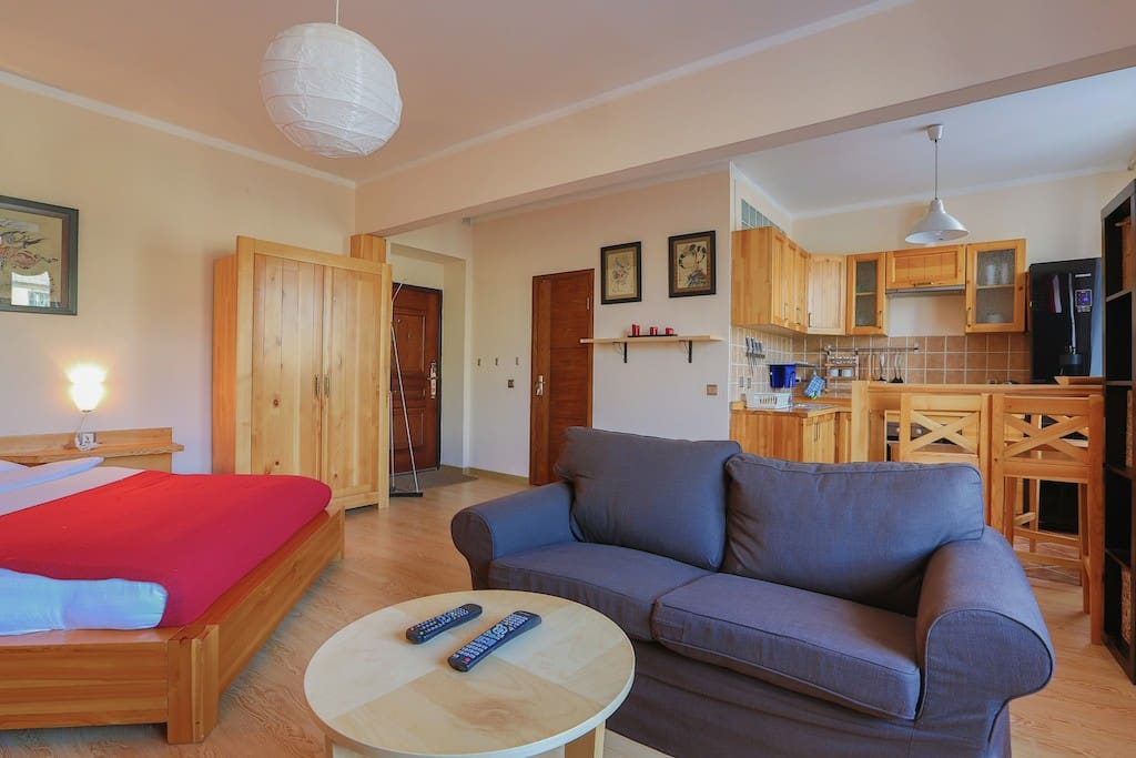 A great and cozy little studio apartment overlooking the 'Beatles Street' in Central Ulaanbaatar.