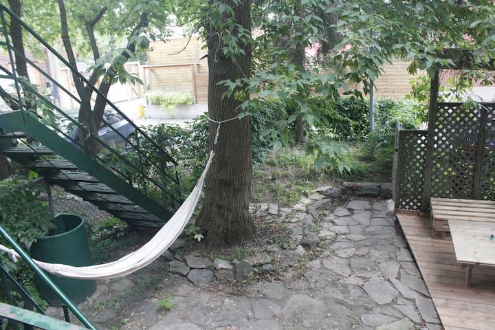 Backyard with hamac ;)