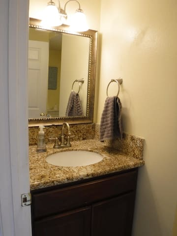 Second Full Bathroom with stand-up shower.