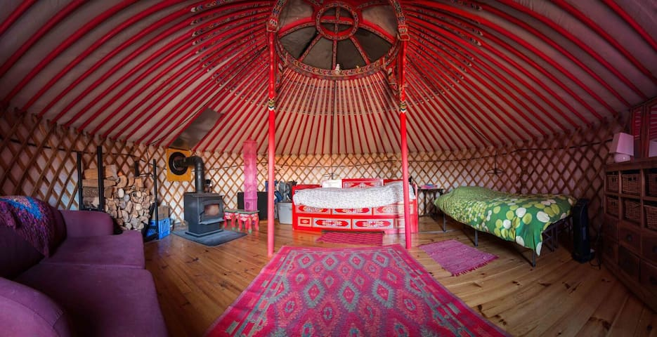 The Big Red Yurt at Cabot Shores