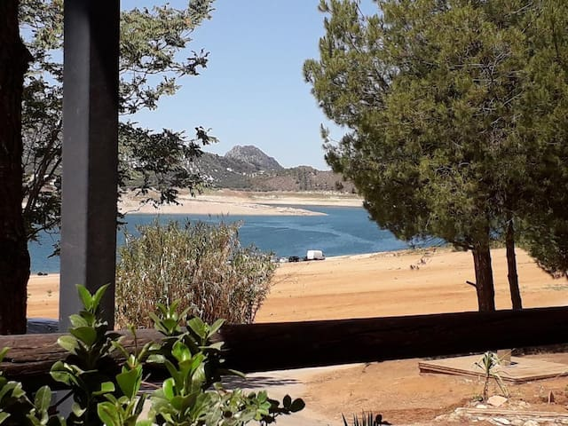 Lake Iznajar with beach, water sports and restaurants. It is only 20 minutes from the house by car.