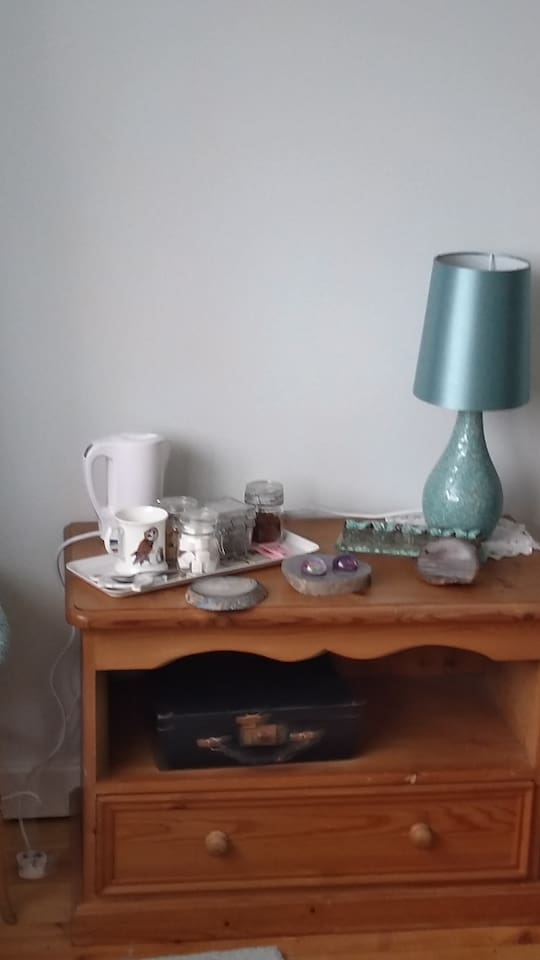 Welcome tea and coffee in bedroom