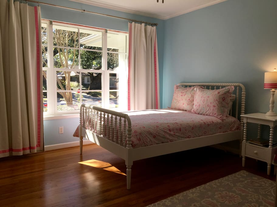 Second bedroom.  Double bed. Closet space available.