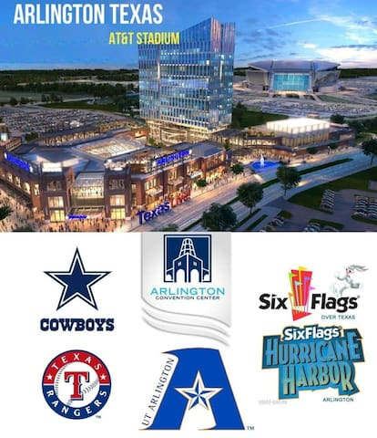 *1 BLOCK COWBOYS/RANGERS & ENTERTAINMENT DISTRICT!