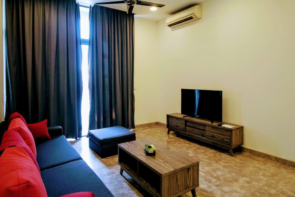 Living Hall with TV & TV box