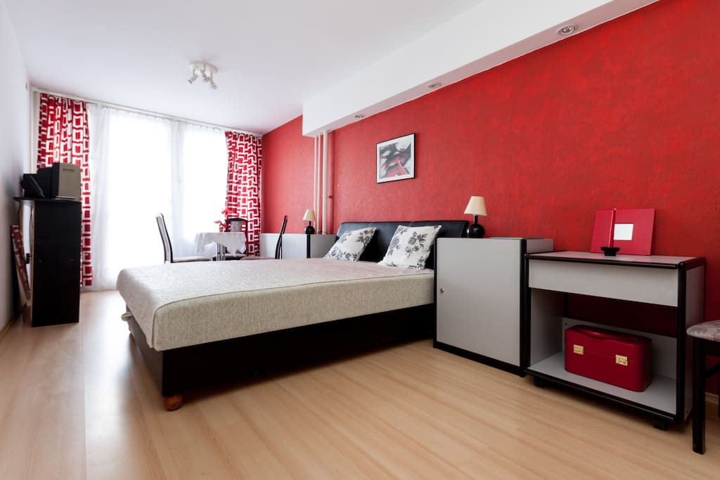 Separate bedrooms - a double bed