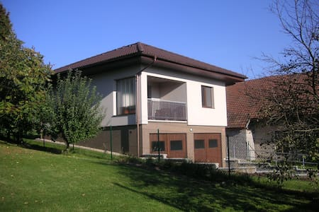 Quiet apartment w. garden & parking - Bělečko -Býšť - Villa