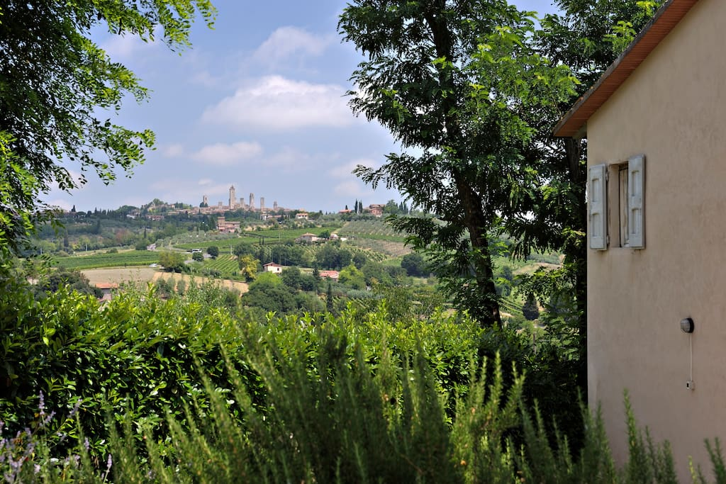 lovely views of the towers of san gimignano