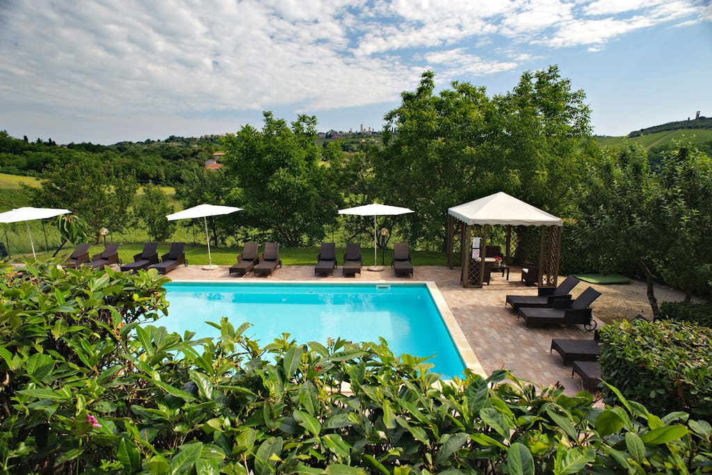 refreshing dip in the panoramic swimming pool