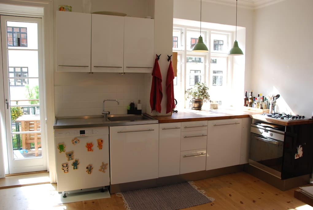 Kitchen with room for dining