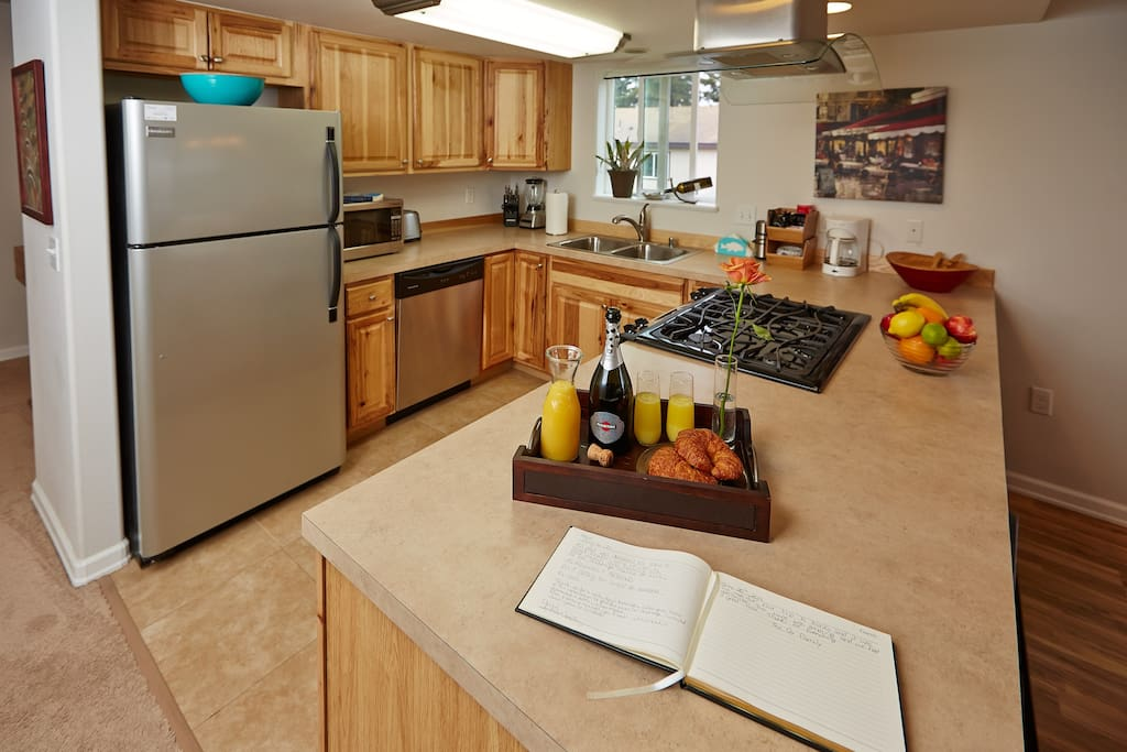 You are going to love cooking in our fully-equipped kitchen.