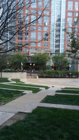 A view of reston center which is not too far from Barcelona restaurant