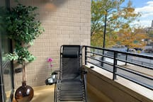 Private balcony with recliner!