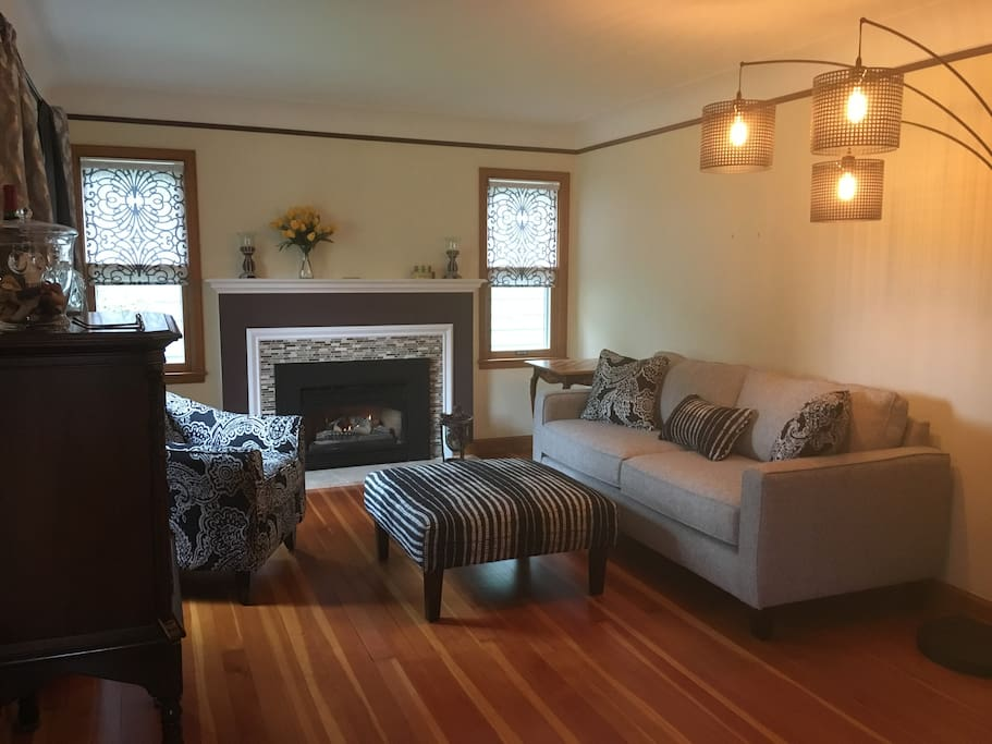 Upstairs Sitting Room - Gas Fireplace