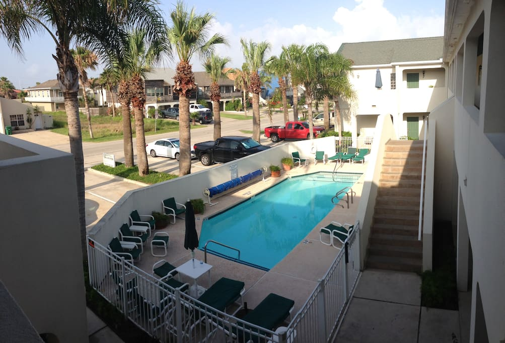 Condominium pool is well maintained and almost private as usually there are very few guests at a time!