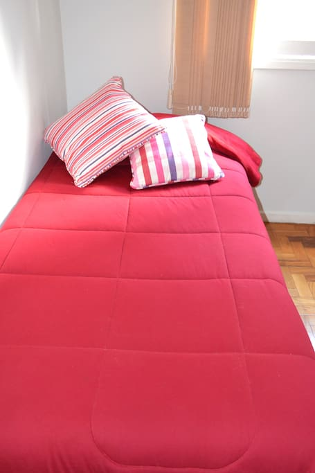 Single and comfortable bed.