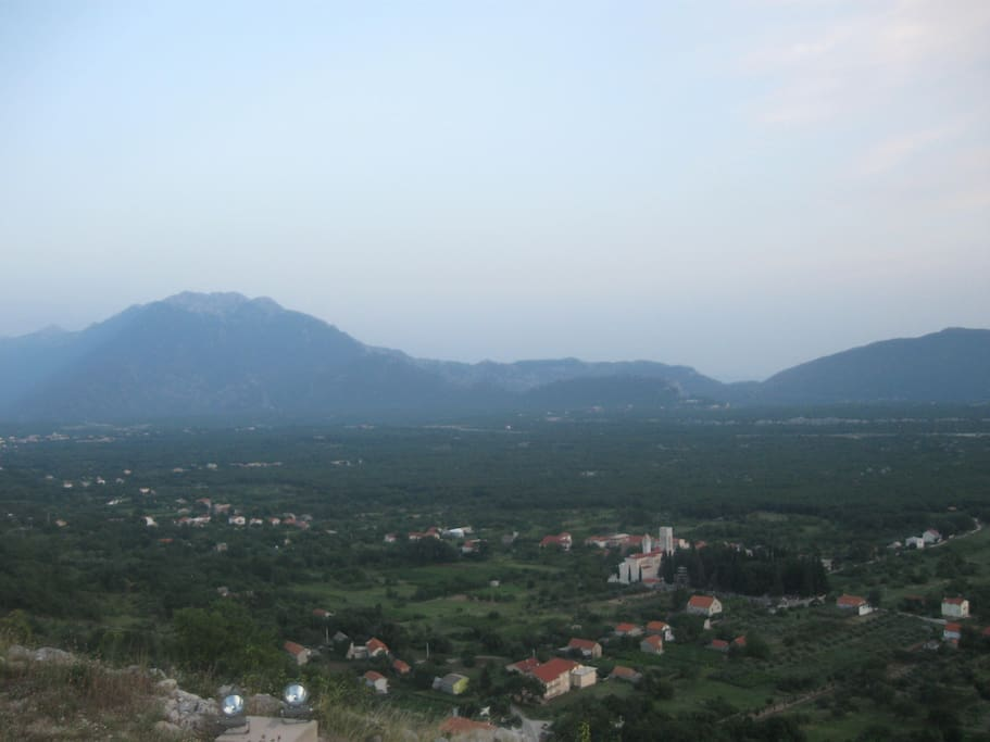 View to Nacional park Biokovo