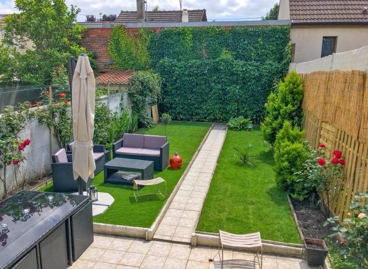 Stylish House w Garden. Near Paris/Disney/CDG