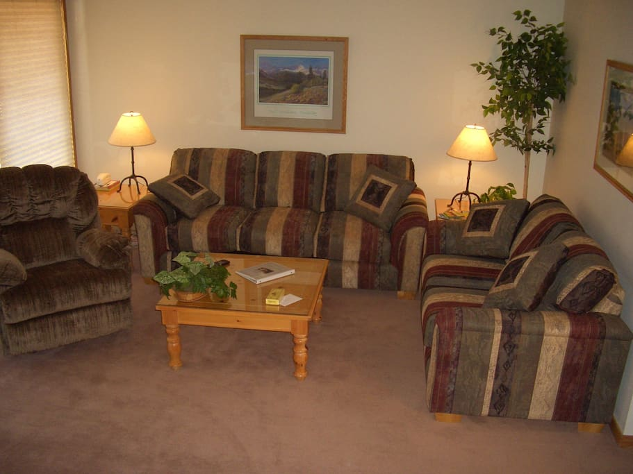 Recently Furnished Living Room