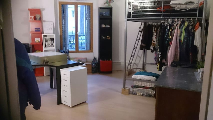 Grande chambre dans colloc étudiant - Straatsburg - Appartement