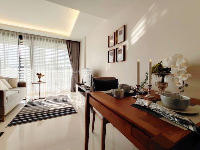 高级公寓|曼谷中心地带,Asok站,近T21|交通方便,干净整洁