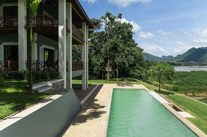 House with Pool on the Mekong - Luang Prabang - Hus