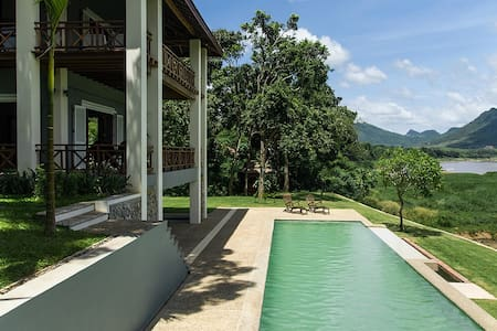 House with Pool on the Mekong