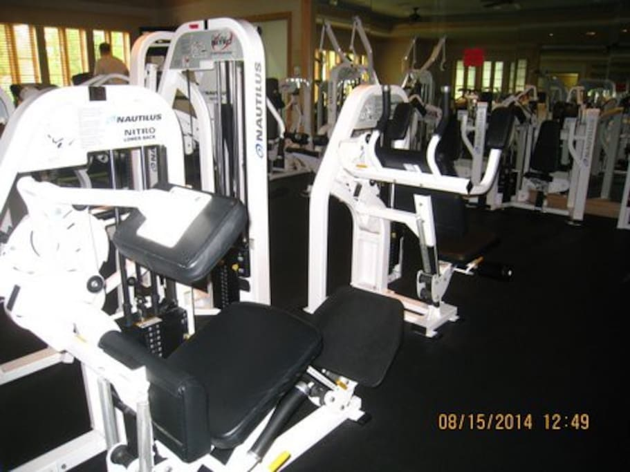 Get a short workout in at the private community gym before seeing the sites.