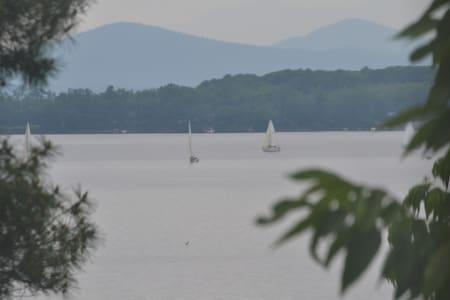 Quiet Lakeside 1BD w/ Deck, Views - South Burlington - Apartment