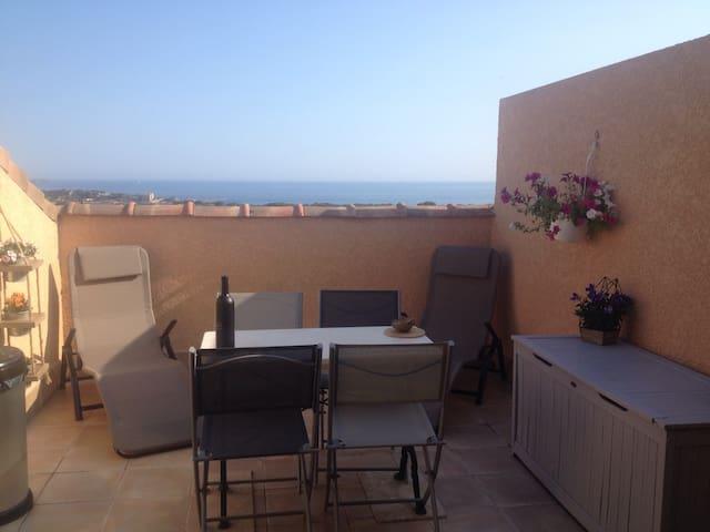 Studio cosy VUE MER (Proche plages 15min à pieds) - Bandol - Appartement
