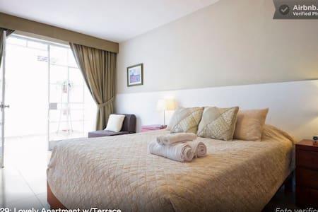Cozy Apt. w/terrace in Miraflores - Lima - Apartamento