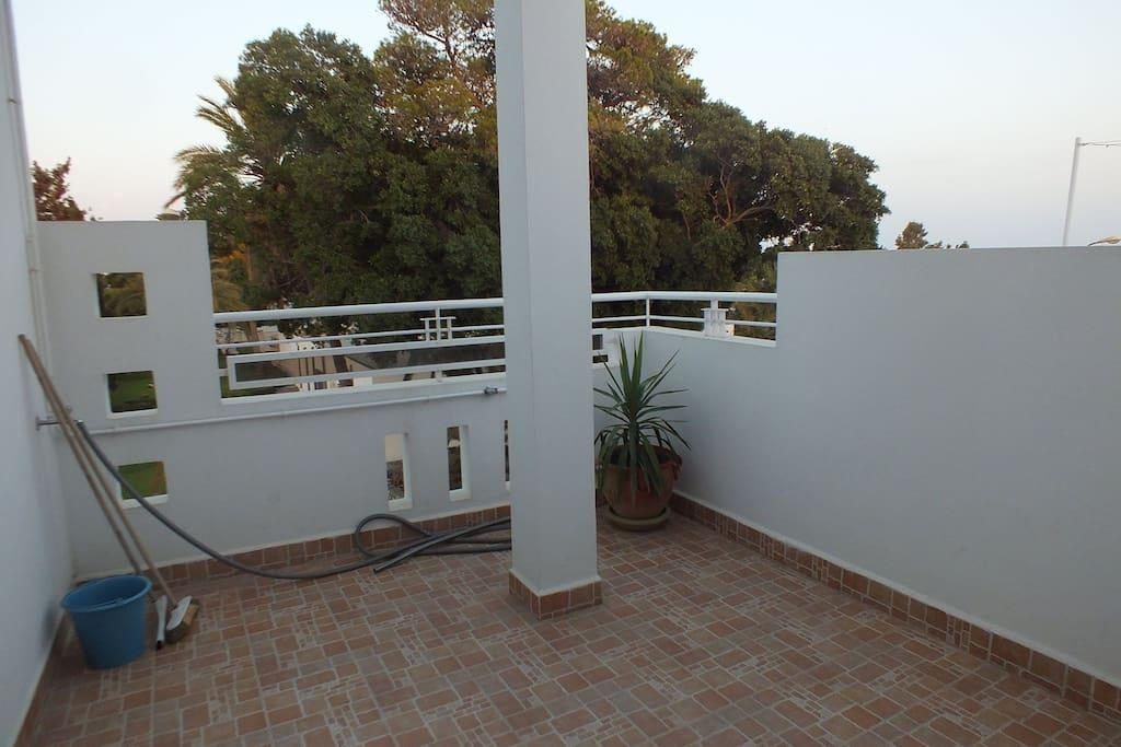 Terrasse privée spacieuse