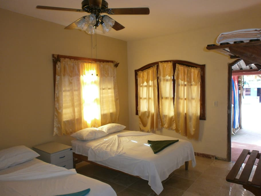 Comfortable, private and tasteful rooms.